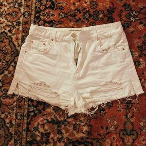 TopShop white shorts
